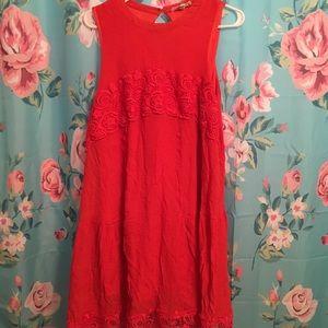 Plus size sleeveless gauze dress
